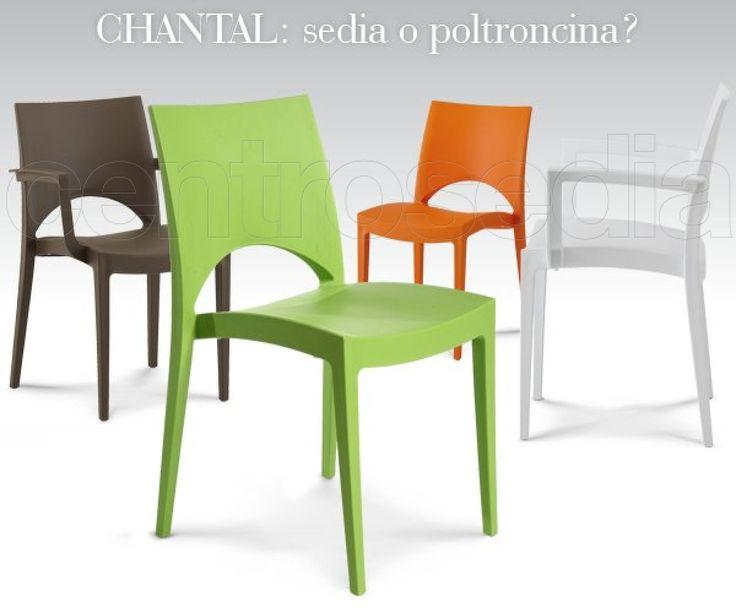 Chantal Sedia Polipropilene-Sedie Plastica, Polipropilene ...