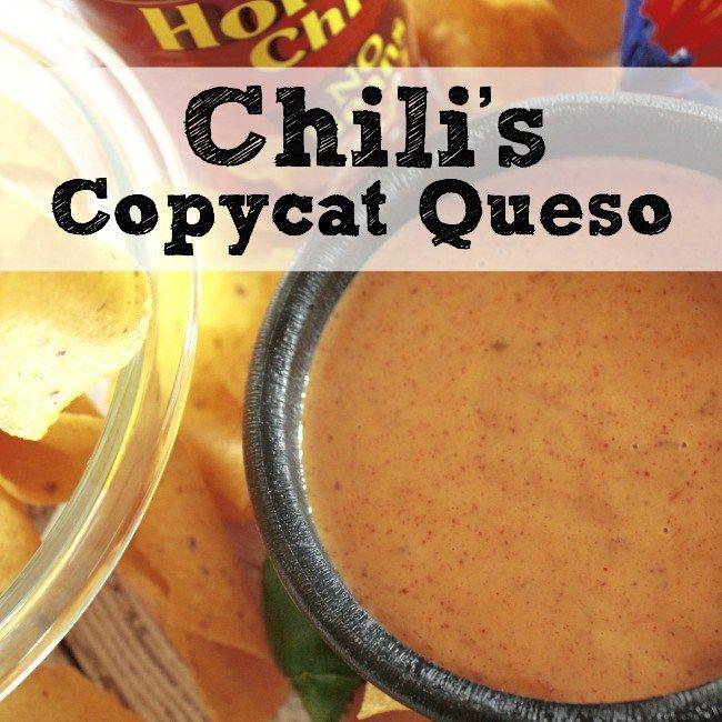 Copycat Chili's Restaurant Menu Item Chili's Skillet Queso