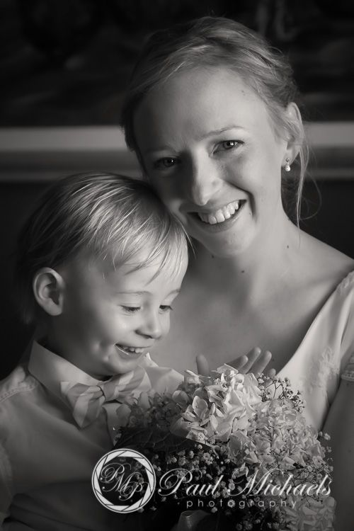 Bride and her son the page boy. PaulMichaels wedding photography Wellington http://www.paulmichaels.co.nz/