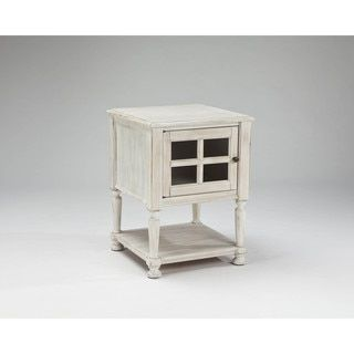 Shop for Signature Design by Ashley Mirimyn White Chair Side End Table. Get free shipping at Overstock.com - Your Online Furniture Outlet Store! Get 5% in rewards with Club O!