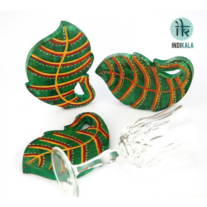 Name : Green Leaf Shaped Coasters (Set of 3) Price : Rs 549 Buy Now at : http://www.indikala.com/lamps-coasters/green-leaf-shaped-coasters-set-3-of.html #Ethnic #Luxury #BuyOnline #India