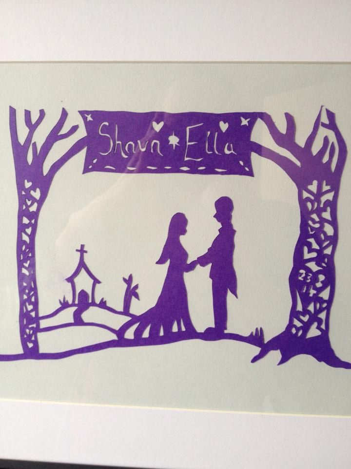 wedding paper cut comission  own design