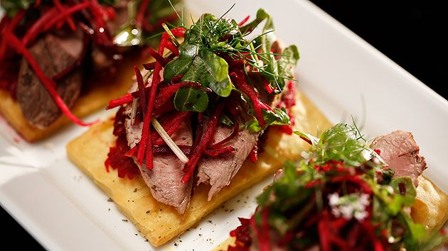 MKR4 Recipe - Pork Medallions with Beetroot Relish on Sour Cream Pastry (Kerrie & Craig)