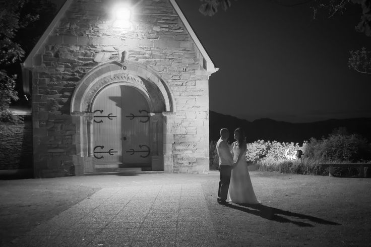 The bride and groom getting time for themselves at midnight outside Gougane Barra church #romantic #love