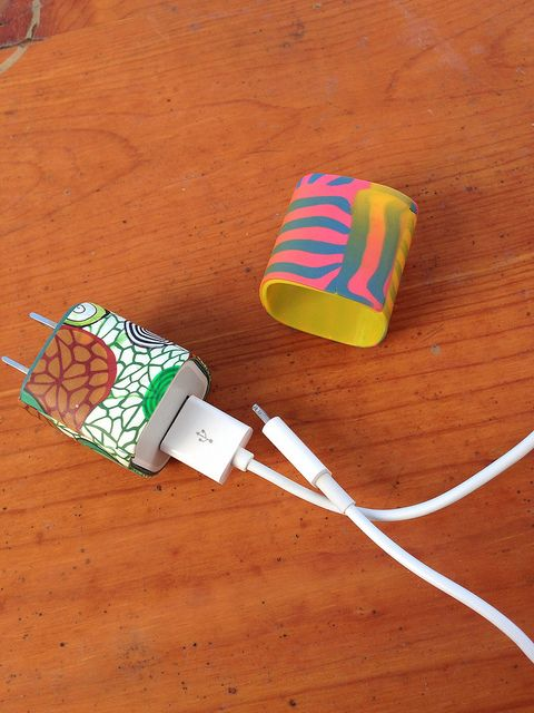 iphone/ipod charger cover made from polymer clay | Flickr - Photo Sharing!
