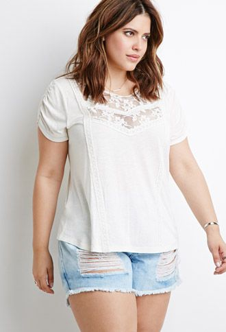 Lace-Paneled Blouse | Forever 21 PLUS | #f21plus