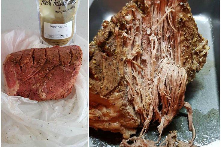 Smokin' BBQ Rub Beef in Pressure Cooker