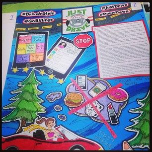 One of the safe driving app contest winning entries! #DriveInStyle