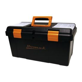 Homak 22.375-In Black Plastic Tool Box Bk00122006