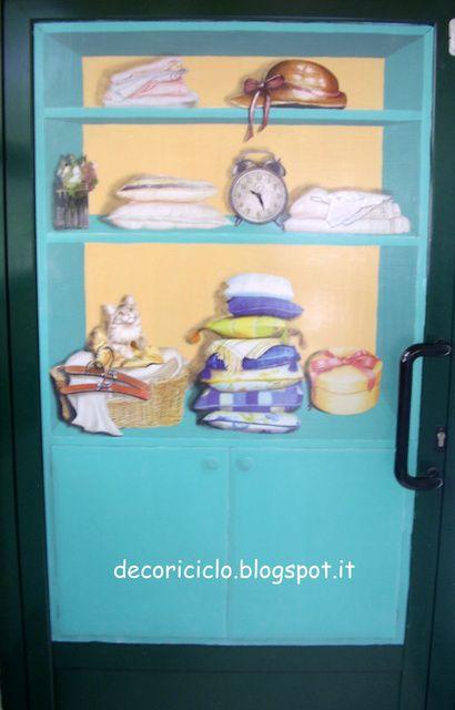 decoriciclo: L'armadio della biancheria, trompe-l'oeil
