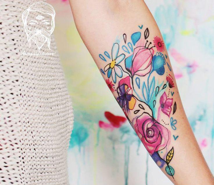 Abstract Nature Tattoo by Bumpkin Tattoo | Tattoo No. 13248