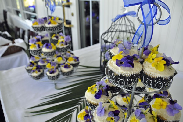 Flower cupcakes at my sister's bridal shower