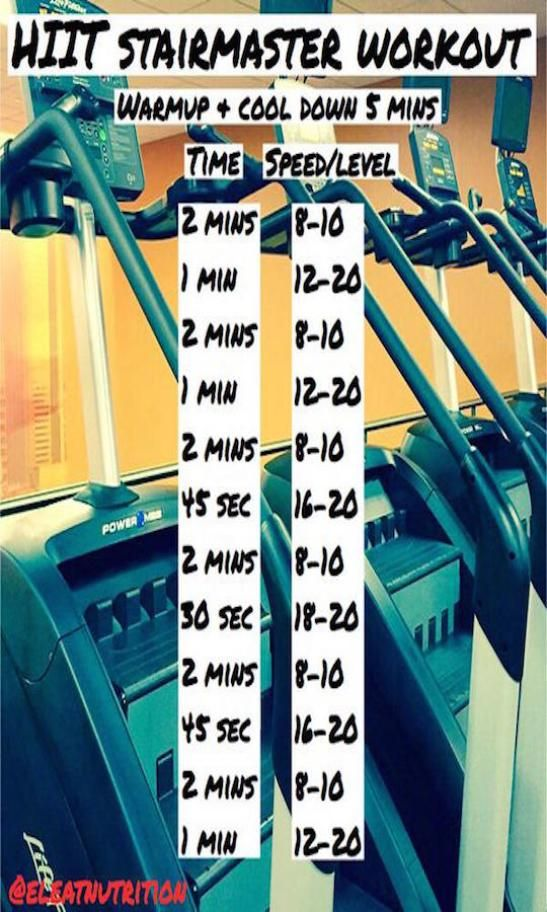 HIIT+stairmaster+-+part+of+fitness+model+workout