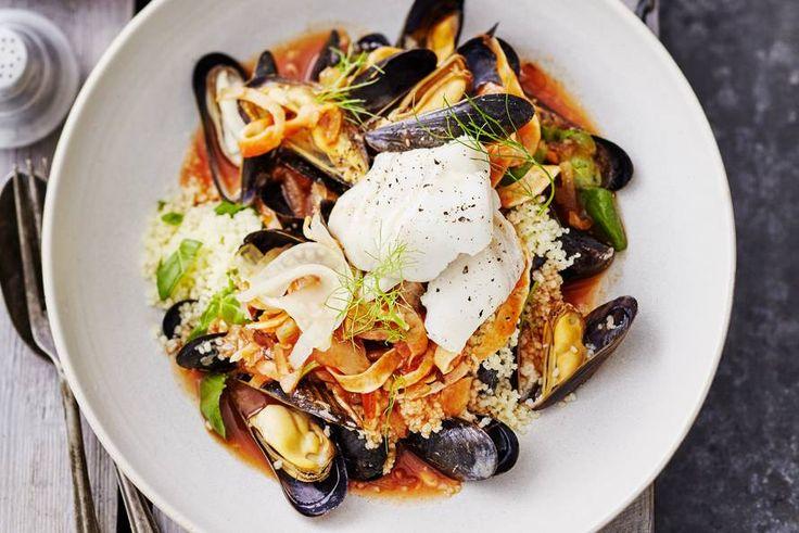 Couscous met mosselen en kabeljauw - Recept - Allerhande