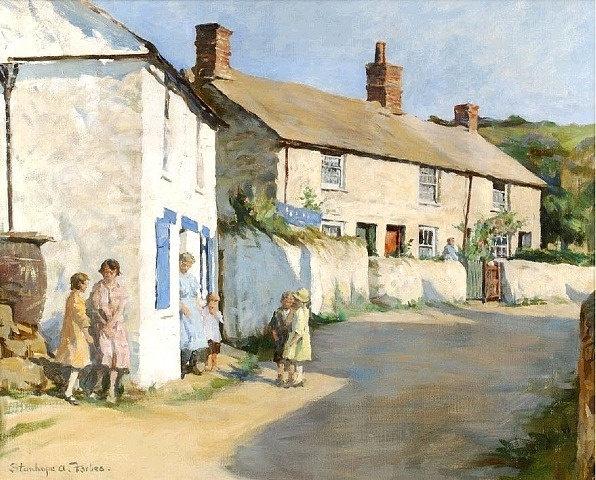 'The Village Street, Newlyn' by Stanhope Forbes.