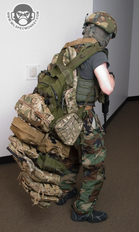 "Molle attachments out of control ML: Don't be insane about ""bug out"" stuff... or you won't go anywhere, but a grave!"