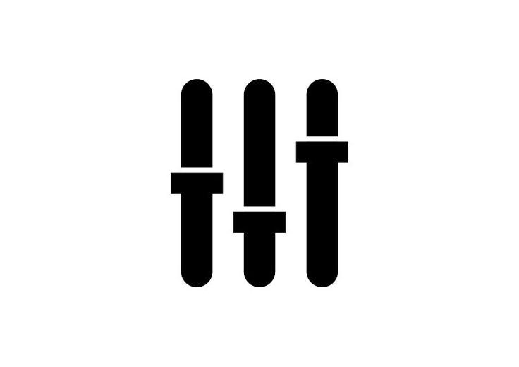 Equalizer Audio Balance Vector Icon