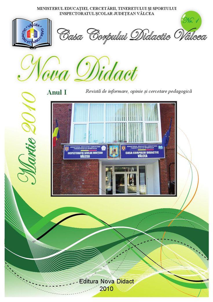 """Revista """"NOVA DIDACT"""", Nr. 1, Martie 2010"""