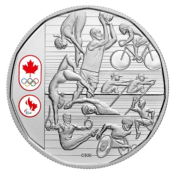 Limited Edition Proof Silver Dollar - Celebrating Canadian Athletes (2016)