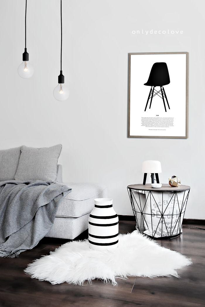 super stylish living room - Ferm living basket looks fab!