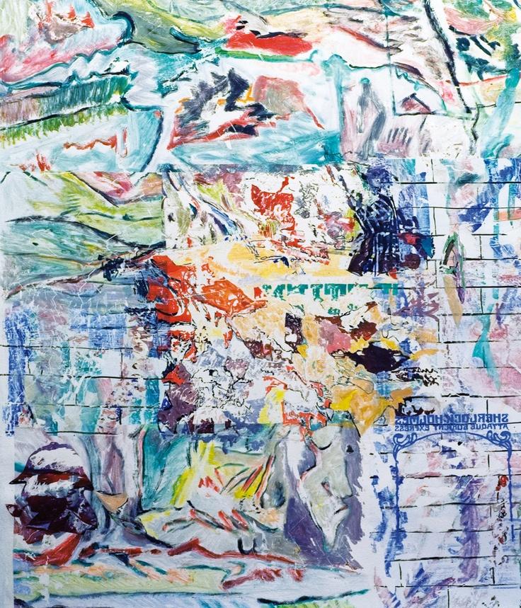 Claudio Spanti - Orient Express - Acrylique sur toile - cm 85x73 - 2011