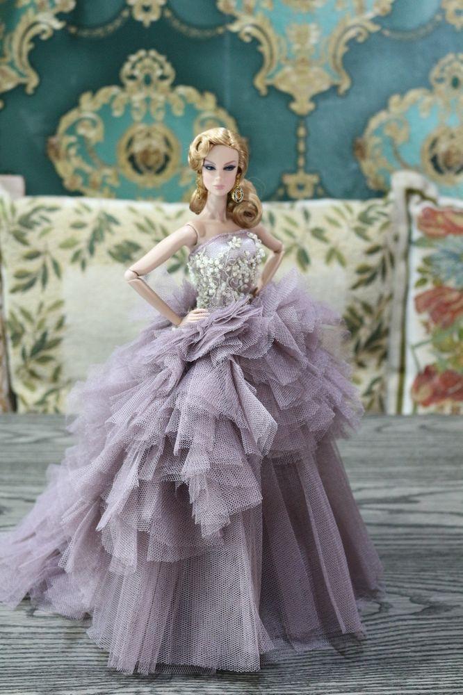 Evening dress for Fashion royalty / silkstone dolls by t.d.fashion #tdfasiondolls