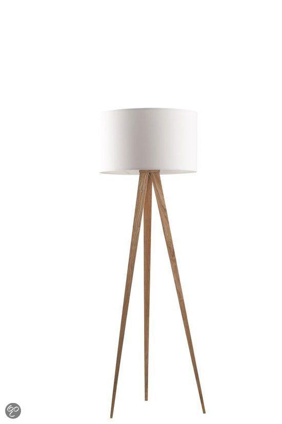 Zuiver Vloerlamp Tripod Wood - Wit