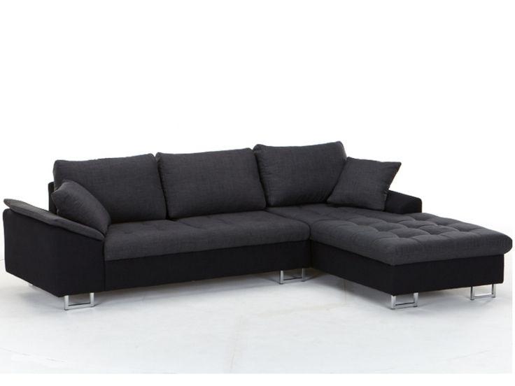 ecksofa stoff allegrie zweifarbig schwarz g nstig kaufen m bel online shop kauf
