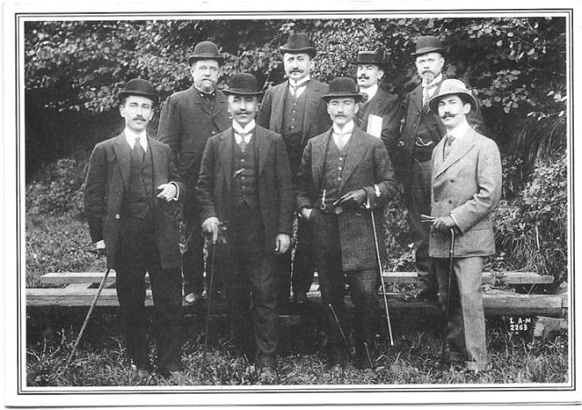 Mustafa Kemal and the Turkish commission, Picardie, 28 September 1910