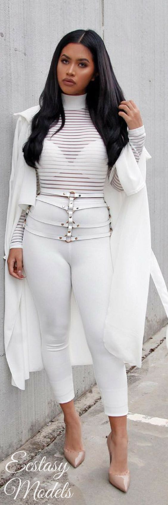 All White // Fashion Look by Stefney V.