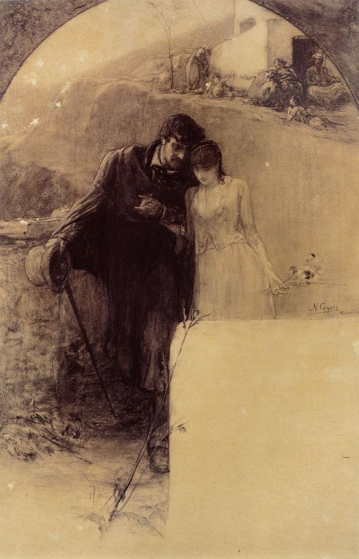 Man and Woman by Gyzis Nikolaos (1842-1901)