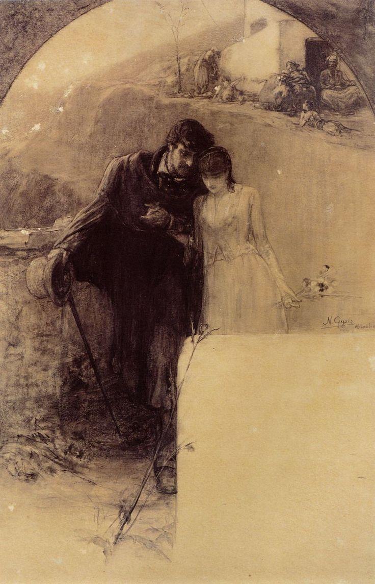 Man and Woman by Gyzis Nikolaos (1842-1901)