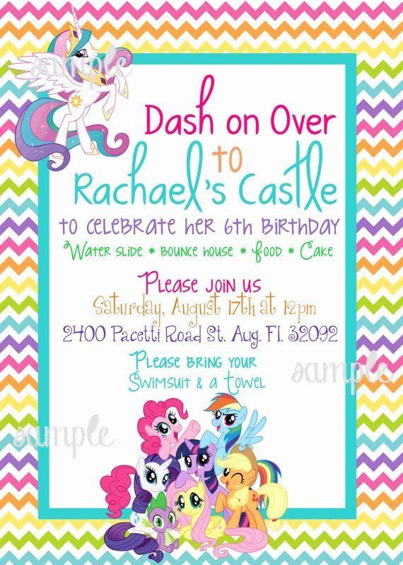 My Little Pony Birthday Invitation Beautiful My Little Pony Mlp Birthday Invitation By Pret My Little Pony Birthday Pony Birthday My Little Pony Birthday Party
