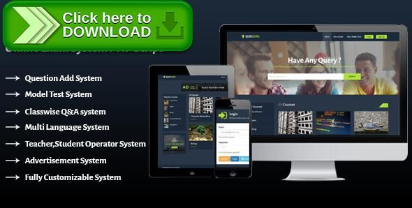 [ThemeForest]Free nulled download Quizguru - Online Exam System PHP Script from http://zippyfile.download/f.php?id=52094 Tags: ecommerce, exam, exam application, online education, online exam, Online Exam Script, Online Exam System, Online Examination System, Online Learning, online quiz, php quiz application, php quiz script, quiz, quiz app, Quiz questions and answers, quiz script
