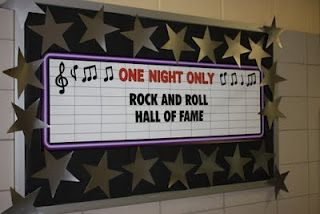 Back to school classroom makeover ideas with Rock Star theme.  Very cute room and center ideas.
