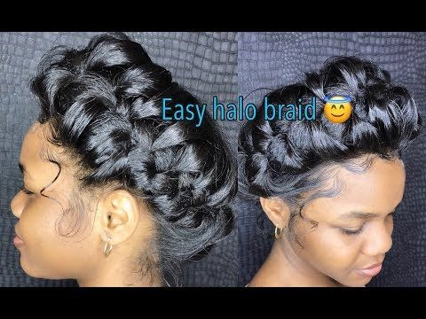 How To Do A Messy Halo Crown Braid Cool Braid Hairstyles