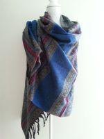blauw grijze sjaal groot