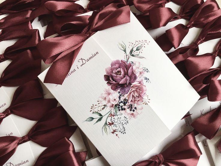 Zaproszenie ślubne kwiatem 🌷 #zaproszenia #zaproszenie #slub #wesele #narzeczeni #paramloda #kwiaty