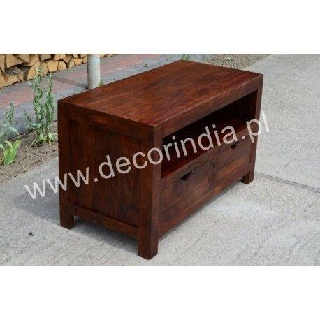 Meble indyjskie - Klasyczna szafka pod sprzęt RTV z szufladami (RD-088B)