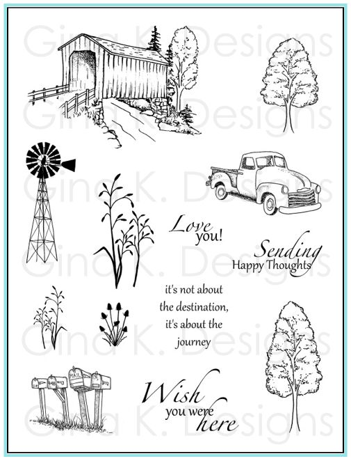 Country Roads Stamp Set from Gina K Designs    http://www.shop.ginakdesigns.com/category.sc?categoryId=80