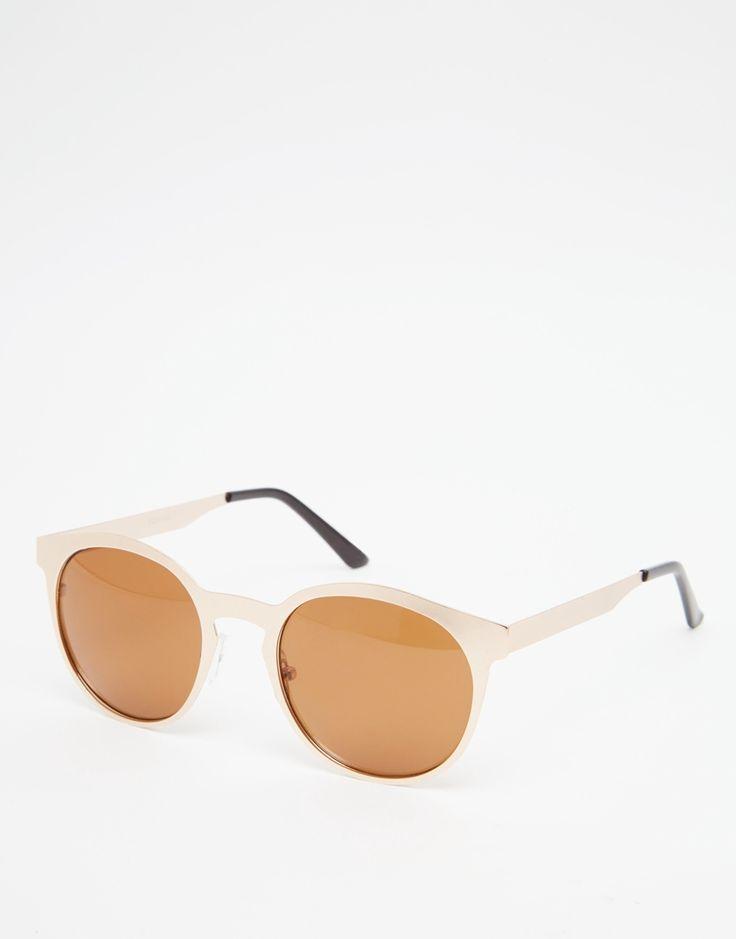 Immagine 1 di ASOS - Occhiali da sole rotondi stile rétro color oro brunito
