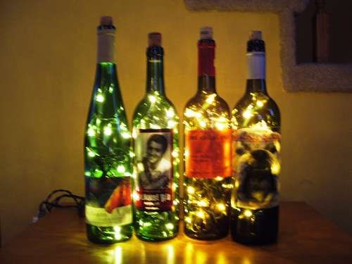 Wine Bottle Lights- I love this site!