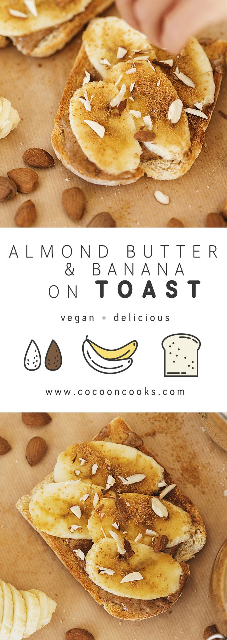 Indulge your sweet tooth with these delicious and healthy toasts! This naturally sweetened snack is the perfect pick-me-up for that mid-afternoon slump. #healthy #organic #vegan #snack