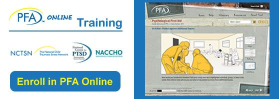 I am very interested in disaster relief. This is a course in psychological first aid- found from Show Me Response site
