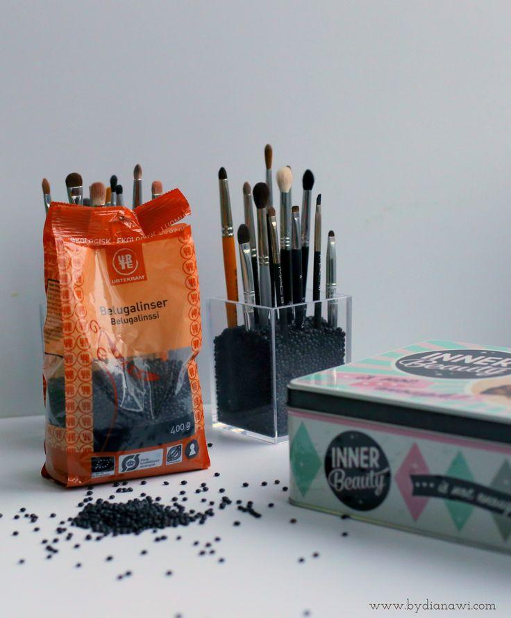 DIY Billig, nem og praktisk opbevaring af makeup børster, by dianawi