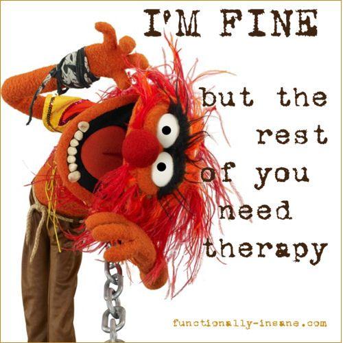haha.. I'm fine ... honest !