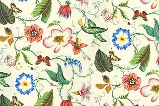 The floral patterned fabric Flora Impereralis Outdoor in Summer. Image: calicocorners.com