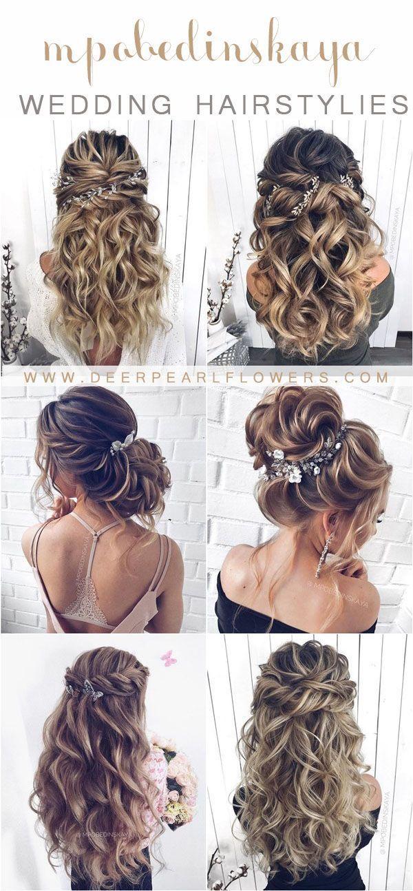 Long Half Up Half Wedding Hairstyles And Mpobedinskaya Wedding Buns Corns Hairs Long Wedding Wedding Hairstyles For Long Hair Wedding Hair Inspiration Wedding Hair Down