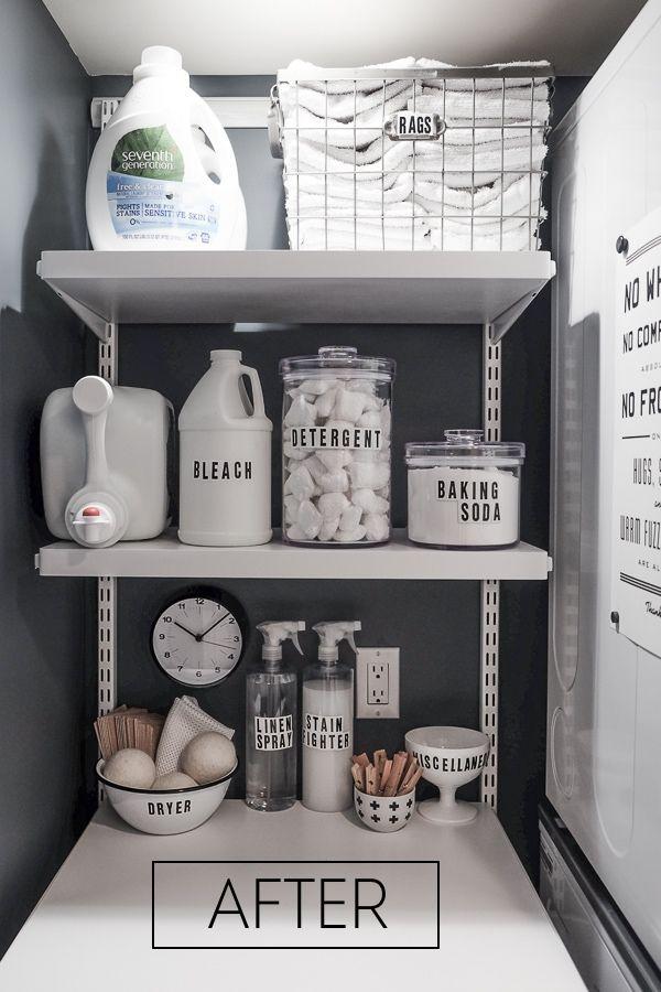 Around the Home: Laundry Closet Makeover