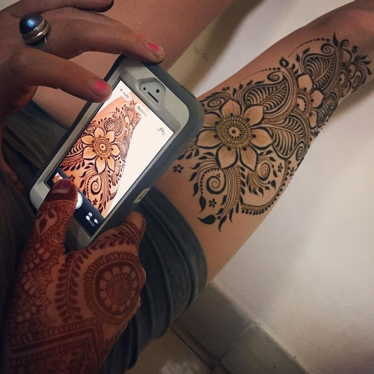 Some afternoon thigh #henna for my #mehndi model in residence.  #Mysore #mysoremehndi #Gokulam #hennapro #bodyart #adornment #Instagram #India #travel #yogi #flowers #designer